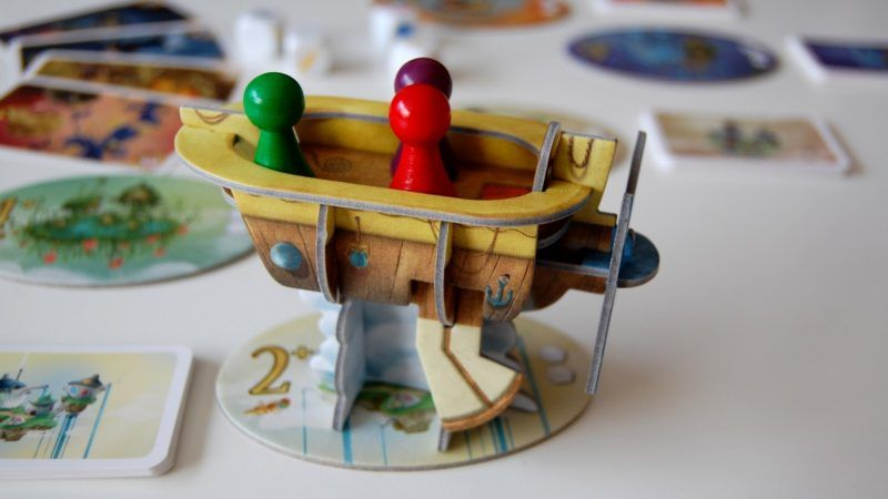 Celestia board game review ship model