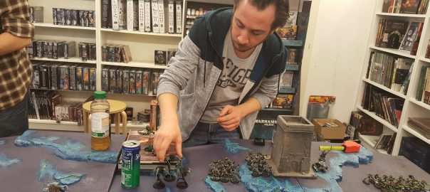 Photos d'un tournoi 40k improvisé